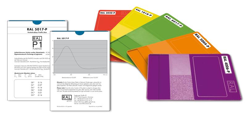 RAL塑胶色彩示例图